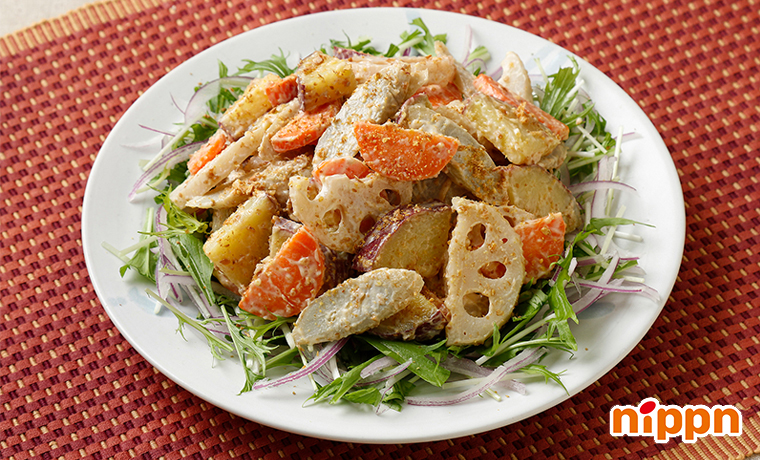 根菜のアマニ味噌マヨサラダ