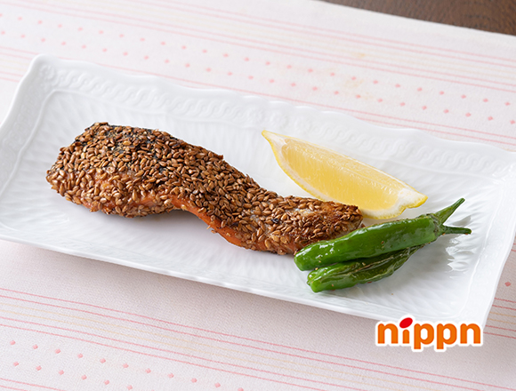 鮭のアマニ焼き