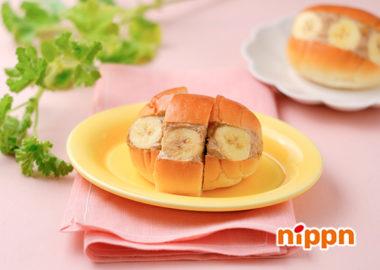 バナナとアマニ入りピーナッツクリームのマリトッツォ